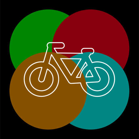 vector Bicycle icon, vector Bicycle illustration - sport symbol. Thin line pictogram - outline editable stroke
