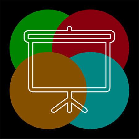 education board icon, school chalk board illustration, drawing symbol. Thin line pictogram - outline editable stroke