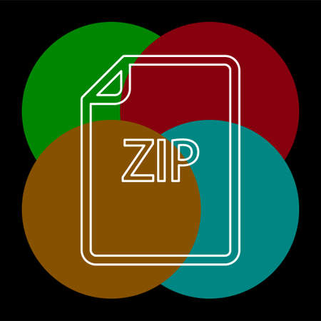 download ZIP document icon - vector file format symbol. Thin line pictogram - outline editable stroke