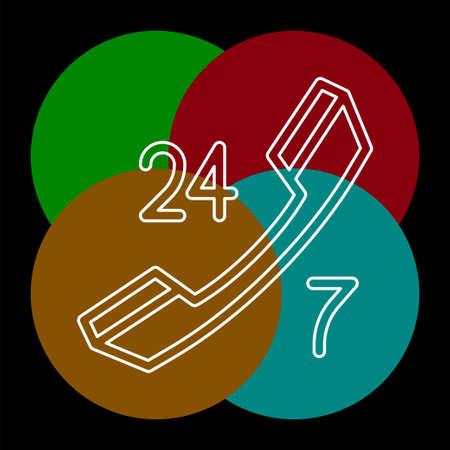 24 7 customer service icon - customer support icon - call center icon.