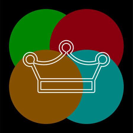 Crown king icon illustration, royal queen illustration isolated. Ilustração