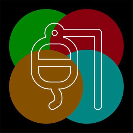 vector blood donation illustration - health care icon, medical sign. Thin line pictogram - outline editable stroke Illustration