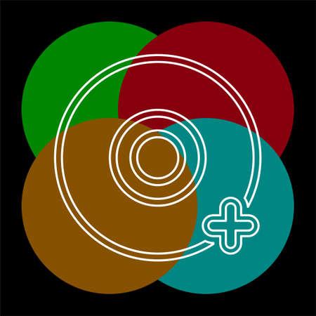 Add dvd or cd compact disc illustration Illustration
