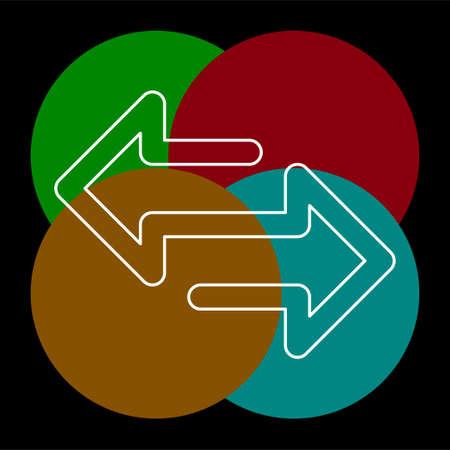 Échanger le logo pour l'entreprise commerciale. Conception d'idée de logotype Exchange simple. Concept d'identité d'entreprise. Icône d'échange créatif de la collection d'accessoires. Pictogramme de fine ligne - contour modifiable Logo