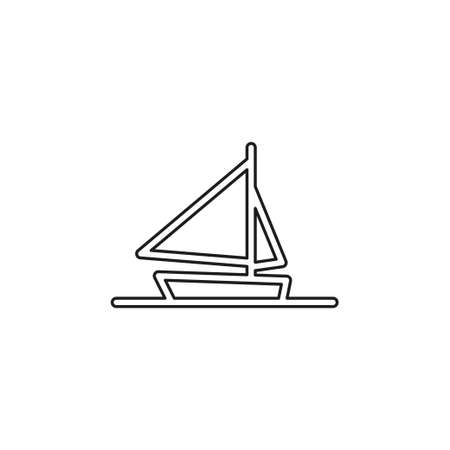 ship icon, cruise ship - vector boat illustration, sea travel symbol. Thin line pictogram - outline editable stroke 일러스트