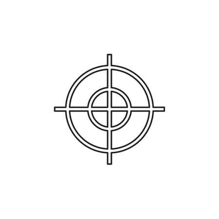 target goal icon, target focus arrow, marketing aim. Thin line pictogram - outline editable stroke Illustration