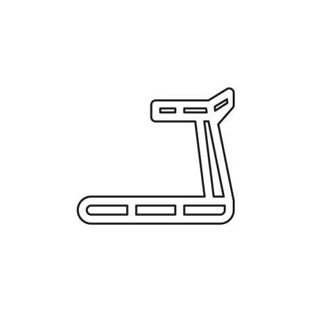 treadmill icon, fitness, exercise, gym icon - vector training machine. Thin line pictogram - outline editable stroke 向量圖像