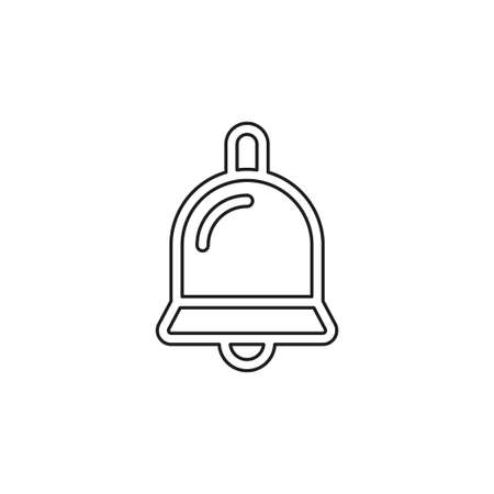 Simple Bell. Thin line pictogram - outline editable stroke