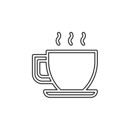 coffee cup or mug icon, coffee vector - hot drink espresso. Thin line pictogram - outline editable stroke Vetores
