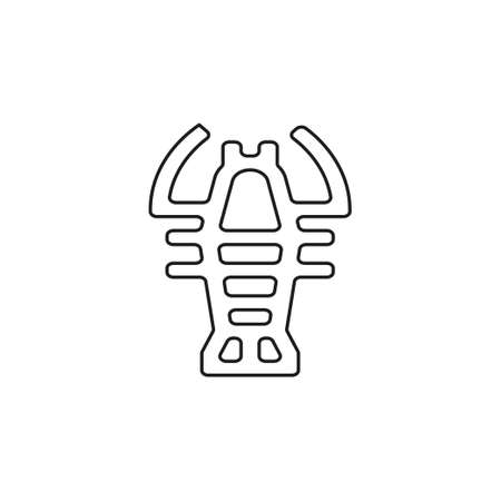 vector lobster symbol - crawfish seafood icon illustration sign. Thin line pictogram - outline editable stroke