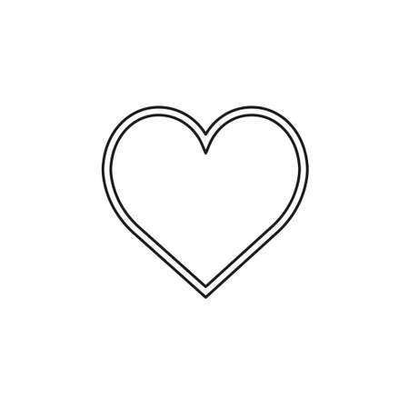 vector love sign. heart illustration, valentine symbol icon. Thin line pictogram - outline editable stroke