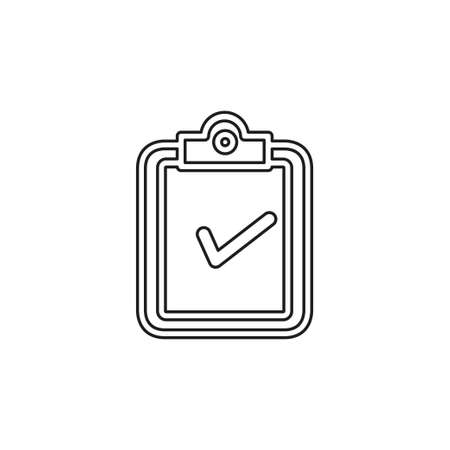 validation concept icon. Simple element illustration. validation concept symbol design from analytics set. Can be used for web and mobile UI UX. Thin line pictogram - outline editable stroke