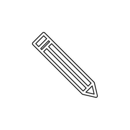 Pencil sign icon - Edit site content, creative design - graphic element. Thin line pictogram - outline editable stroke