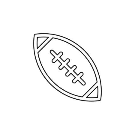 american football - sport icon, rugby vector symbol. Thin line pictogram - outline editable stroke