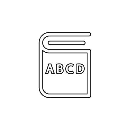 education book icon - library or bookstore icon - vector literature symbol. Thin line pictogram - outline editable stroke