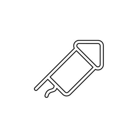 Firecracker icon. element illustration. Firecracker symbol design collection. Simple Firecracker concept. Can be used in web and mobile. Thin line pictogram - outline editable stroke