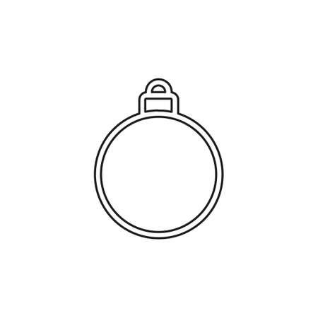 Christmas decorations icon. element illustration. Christmas decorations symbol design collection. Simple Christmas decorations concept. Thin line pictogram - outline editable stroke Иллюстрация