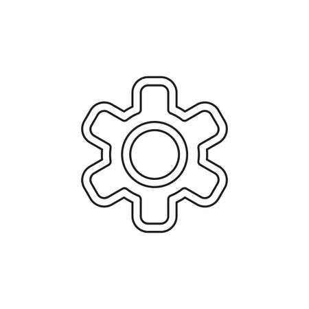 Gear icon. element illustration. Gear symbol design from collection. Simple Gear concept. Can be used in web and mobile. Thin line pictogram - outline editable stroke