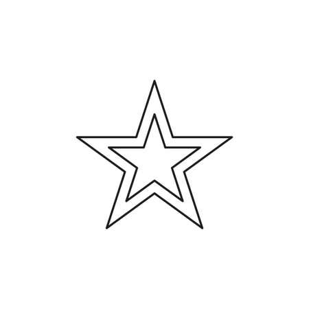 Star icon vector. Classic rank isolated. Trendy flat favorite design. Star web site pictogram, mobile app. illustration. Thin line pictogram - outline editable stroke
