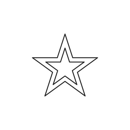 Star icon vector. Classic rank isolated. Trendy flat favorite design. Star web site pictogram, mobile app. illustration. Thin line pictogram - outline editable stroke
