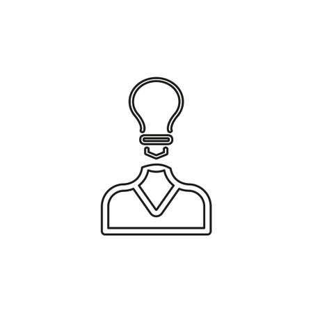 innovation idea icon. Flat illustration of innovation idea vector icon for web design - creative concept smart idea. Thin line pictogram - outline editable stroke