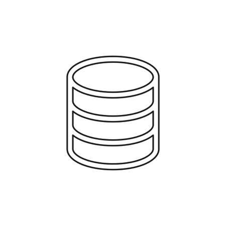 server database connections, computer backup storage illustration, information symbol vector icon. Thin line pictogram - outline editable stroke