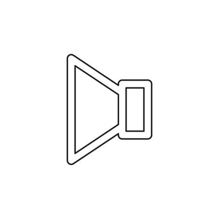 Speaker volume icon - audio voice sound symbol, media music - vector loudspeaker. Thin line pictogram - outline editable stroke