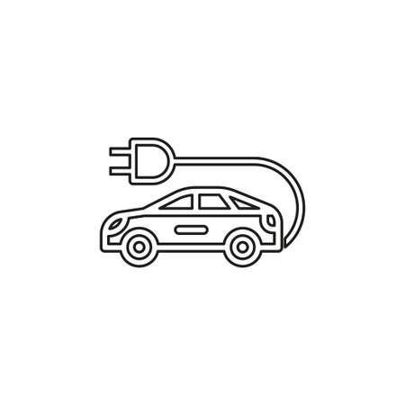 Electro car icon. element illustration. Electro car symbol design collection. Simple Electro car concept. Can be used in web and mobile. Thin line pictogram - outline editable stroke Illustration