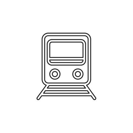 railway icon - vector train - rail station - transportation icon. Thin line pictogram - outline editable stroke Иллюстрация