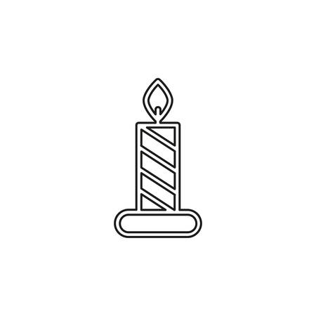 Candle icon. element illustration. Candle symbol design collection. Simple Candle concept. Can be used in web and mobile. Thin line pictogram - outline editable stroke Illustration