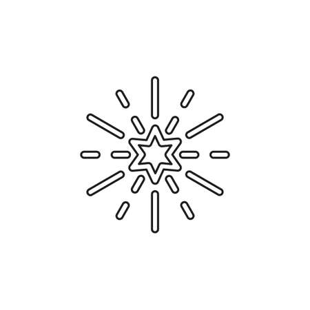 vector star symbol, rating or award shape, success icon. Thin line pictogram - outline editable stroke
