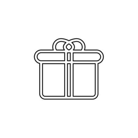 Gift box for business company. Simple Gift box idea design. Corporate identity concept. Creative Gift box icon from accessories collection. Thin line pictogram - outline editable stroke