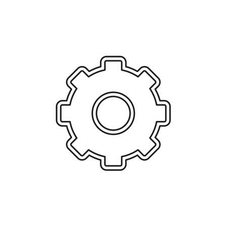 Gears settings icon - Cogwheel gear mechanism vector settings vector icon. Thin line pictogram - outline editable stroke 向量圖像