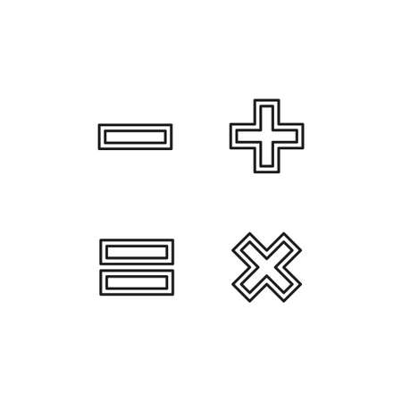 vector Calculator illustration isolated - mathematics symbol, office icon. Thin line pictogram - outline editable stroke