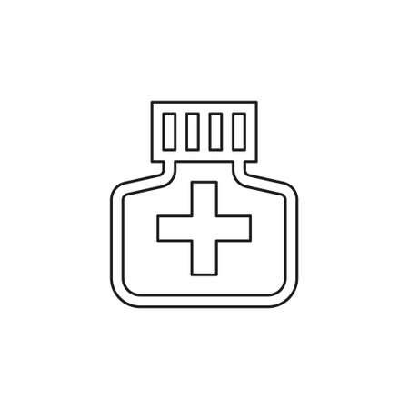 medicine bottle icon - medicine pill - pharmacy drug - health care icon. Thin line pictogram - outline editable stroke