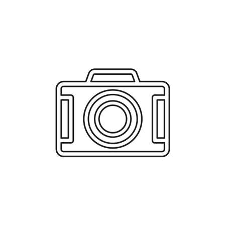 vector Camera icon - digital photography symbol - image illustration. Thin line pictogram - outline editable stroke