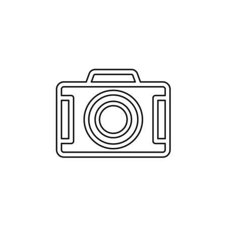 vector Camera icon - digital photography symbol - image illustration. Thin line pictogram - outline editable stroke