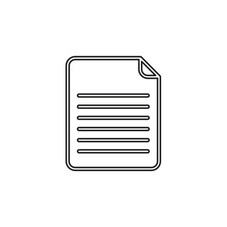Document icon. element illustration. Document symbol design from collection. Simple Document concept. Can be used in web and mobile. Thin line pictogram - outline editable stroke