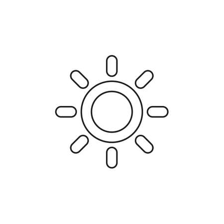 weather forecast icon, vector seasons sunny weather, sunny weather. Thin line pictogram - outline editable stroke