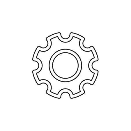 Gears settings icon - Cogwheel gear mechanism vector settings vector icon. Thin line pictogram - outline editable stroke Иллюстрация