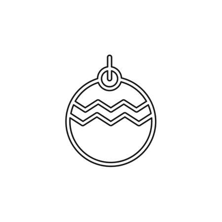 Christmas decorations icon. element illustration. Christmas decorations symbol design collection. Simple Christmas decorations concept. Thin line pictogram - outline editable stroke Illustration