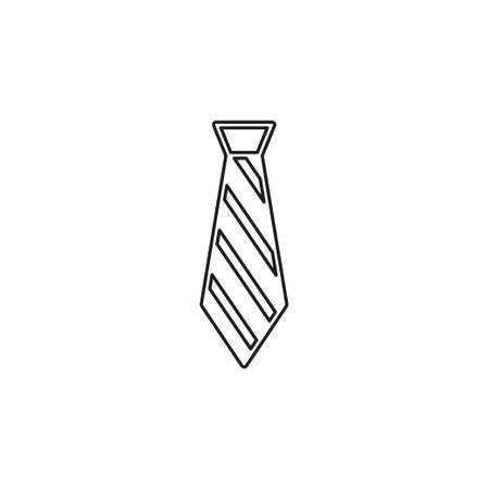 vector tie, textile apparel fashion isolated - design fashion illustration - cravate symbol. Thin line pictogram - outline editable stroke