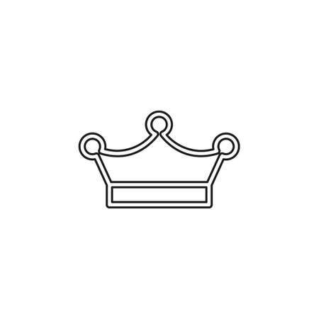vector Crown king icon illustration, royal queen illustration isolated. Thin line pictogram - outline editable stroke