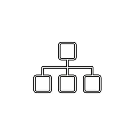 Algorithm icon. Simple element illustration. Algorithm symbol design from Artificial Intelligence collection. Can be used in web and mobile. Thin line pictogram - outline editable stroke