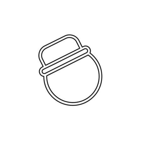 Farmer icon vector isolated on white background, logo concept of Farmer sign, symbol. Thin line pictogram - outline editable stroke