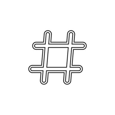 Hashtag icon. Simple element illustration. Hashtag symbol design from Social Media Marketing collection. Can be used in web and mobile. Thin line pictogram - outline editable stroke Иллюстрация