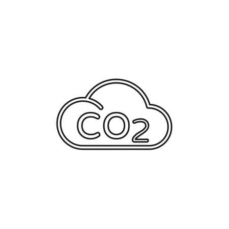 Co2 cloud vector icon - natural ecology, clean environment sign - eco. Thin line pictogram - outline editable stroke