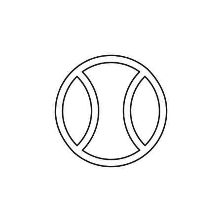 ball tennis white sport design icon vector illustration - play game sport. Thin line pictogram - outline editable stroke