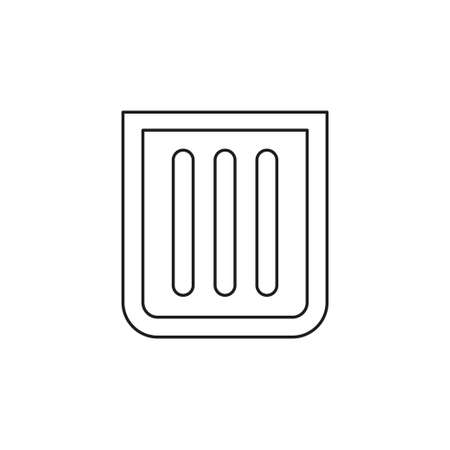waste icon - trash bin, recycle garbage can vector. Thin line pictogram - outline editable stroke