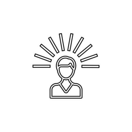 Mind icon. element illustration. Mind symbol design from 2 colored collection. Simple Mind concept. Can be used in web and mobile. Thin line pictogram - outline editable stroke